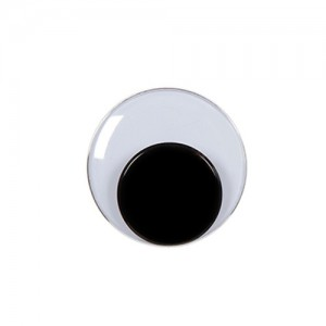 5mm Round Movable Eyes Black