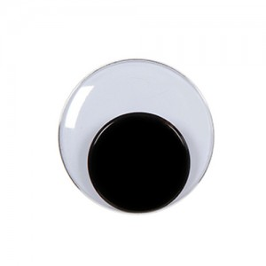 7mm Round Movable Eyes Black