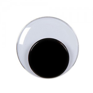 10mm Round Movable Eyes Black