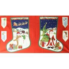 Large Santa/Snowman Stocking Advent Calender