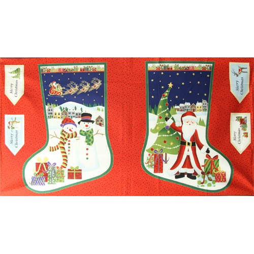 Large Santa/Snowman Stocking