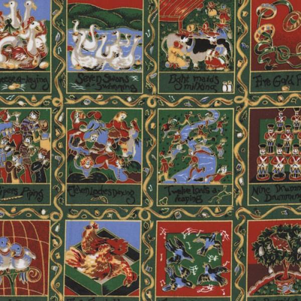 12 Days Of Christmas Fabric Panels