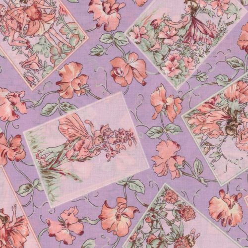 Lilac Flower Fairy Fabric Panels