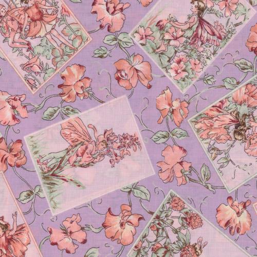 Lilac Flower Fairy Fabric Panels