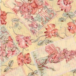 Yellow Flower Fairy Fabric Panels