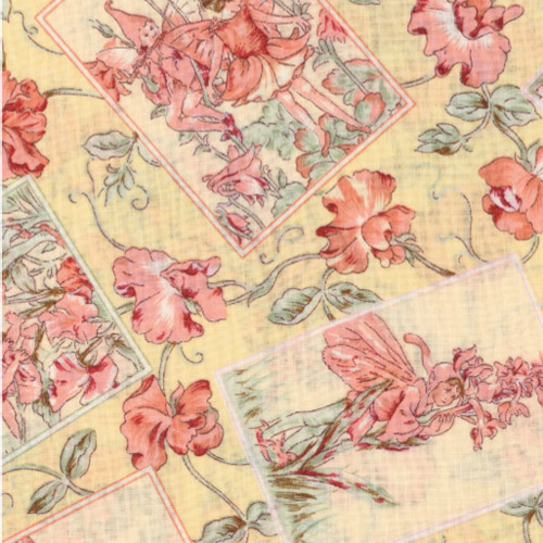 Yellow Flower Fairy Fabric Panels