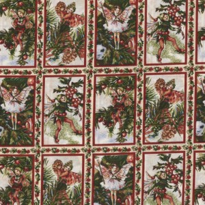 Xmas Fairies Fabric Panels