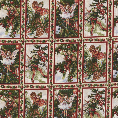 Xmas Fairies Fabric Panels