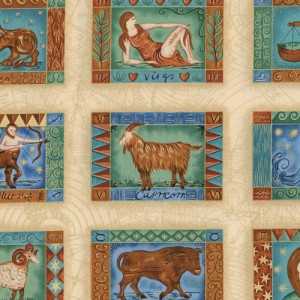 Signs of Zodiac Fabric Panels
