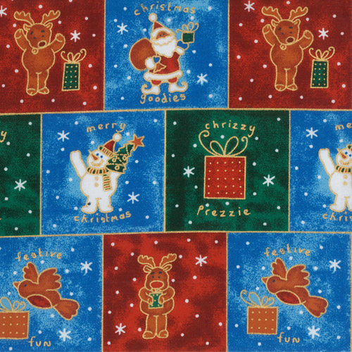 Christmas Characters Fabric Panels