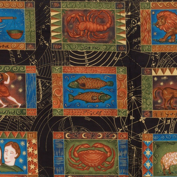 Zodiac fabric panels for Astrology fabric