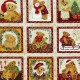Christmas Bears Fabric Panels
