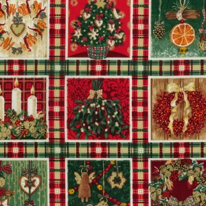 Old Time Christmas Fabric Panels