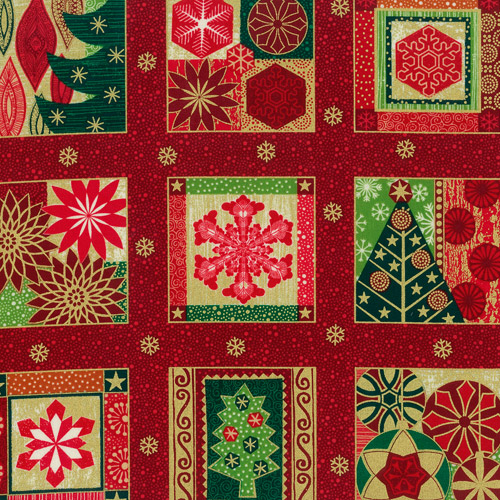 Contemporary Christmas Fabric Panels