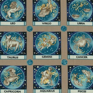 Zodiac Signs Fabric Panels