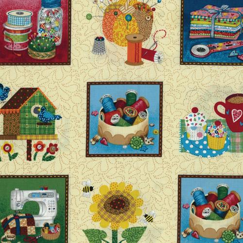 Fabric Panels Sewing Cream