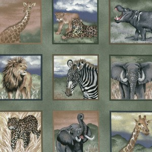 Green Safari Fabric Panels