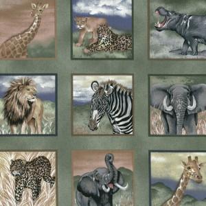 Green Safari Fabric Panels