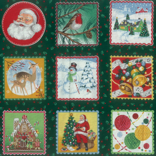 Circle Santa Fabric Panel