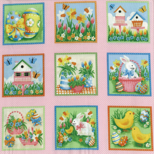 Easter Fabric Panel