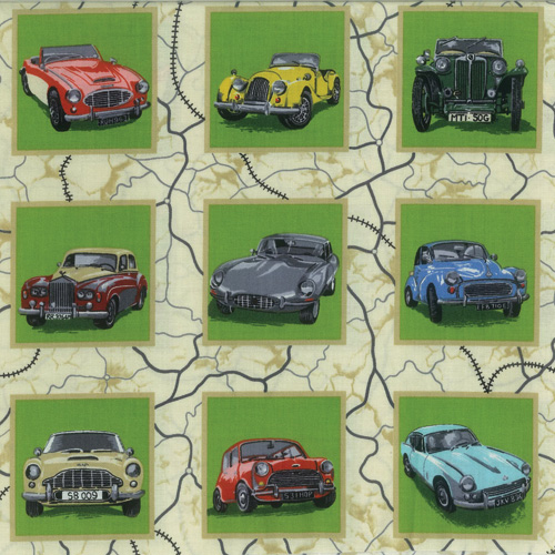 Cars Fabric Panel