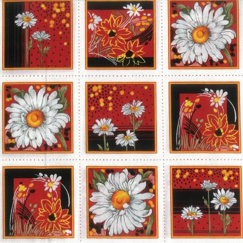 Daisy's White Fabric Panel