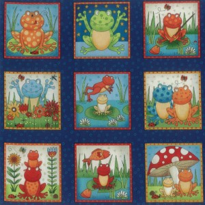 Frogs Fabric Panel