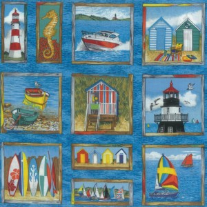 Seaside One Fabric Panel