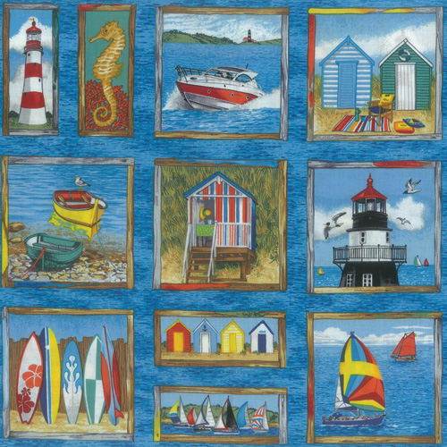 Seaside One Fabric Panel