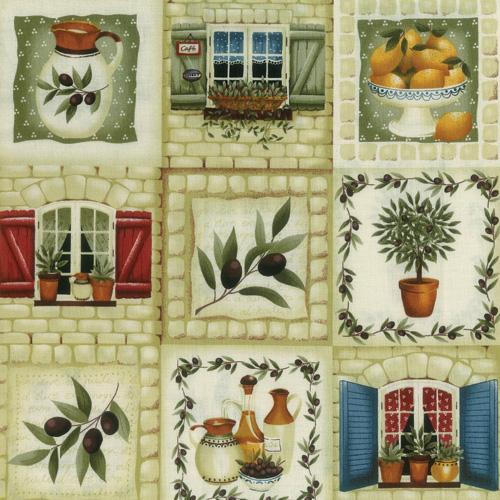 Olive Grove Fabric Panel