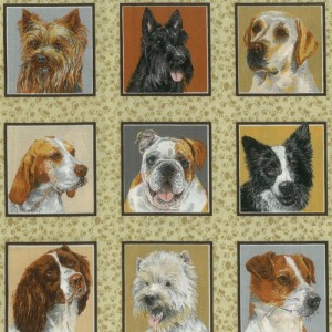 Real Dogs Fabric Panel