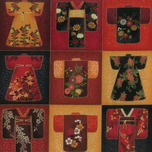 Kimono Black Fabric Panel