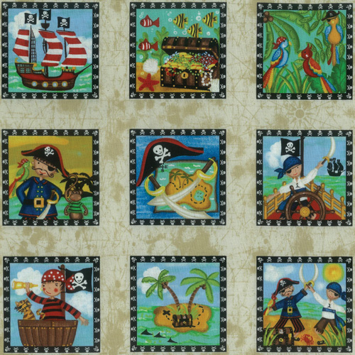 Fabric Panels Pirates