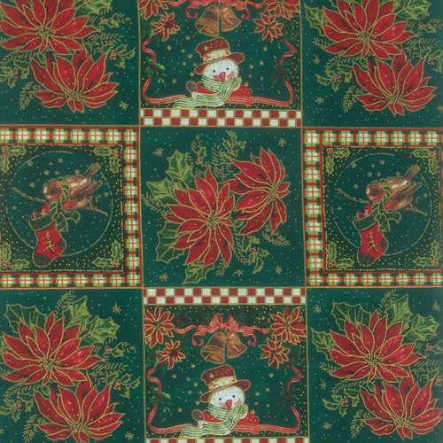 Fabric Panels Poinsettia