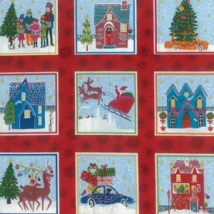 Wonderland Christmas Fabric Panel