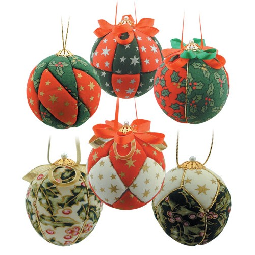 Christmas Fabric Baubles