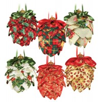 Christmas Fabric Pine Cones