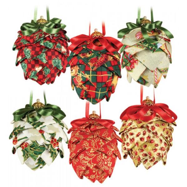 Christmas Fabric Craft Ideas Part - 17: Christmas Fabric Pine Cones
