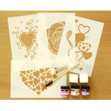 Love & Romance Home Decor Fabric Painting Kit