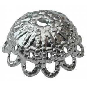 Medium Deep Cap Silver