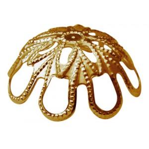Large Looped Deep Cap Gold