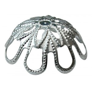 Large Looped Deep Cap Silver