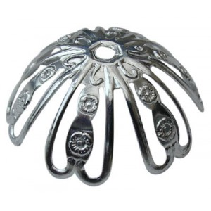 Extra Large Looped Deep Cap Silver