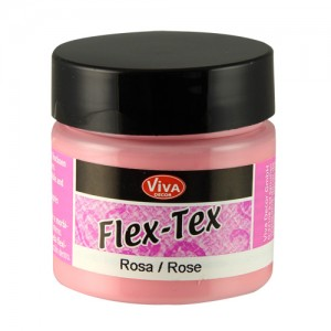Flex-Tex Fabric Paint Rose