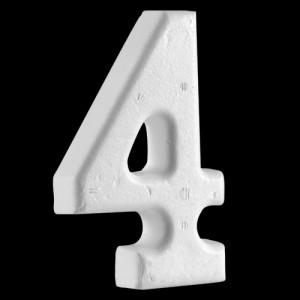 """4"""" (100mm) Number 4"""