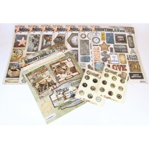 Industrial theme card making pack