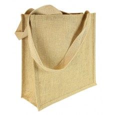 Long Handle Plain Hessian Jute Bag