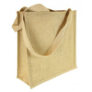 Long Handle Plain Hessian Jute Bag