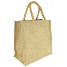 Short Handle Plain Hessian Jute Bag