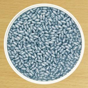 6mm Oat Bead Blue